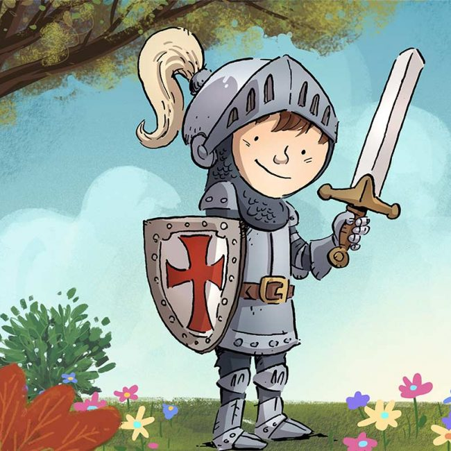 Ritter Junior auf Burg Mauterndorf